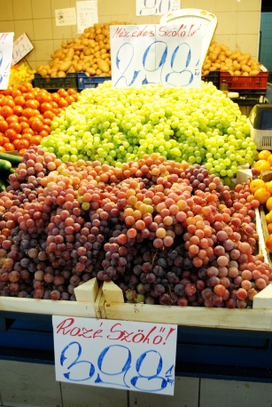 Fresh Hungarian grapes, which also are used to make some of the best wine.